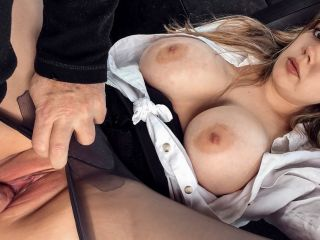 Madison Stuart Busty Passenger Gives Good Tit Wank