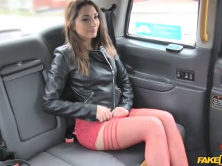 Jimena Lago Hot Teen in Red Dress and Stockings