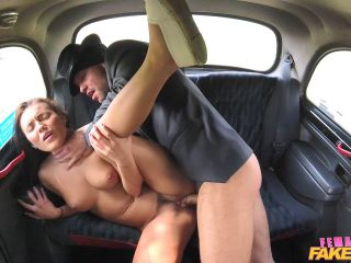 Vanessa Decker Taxi Heist Ends in Horny Cab Fuck